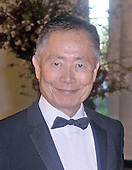 George Takei arrives for the State dinner in honor of Japanese Prime Minister Shinzo Abe and Akie Abe April 28, 2015 at the Booksellers area of the White House in Washington, DC. <br /> Credit: Olivier Douliery / Pool via CNP