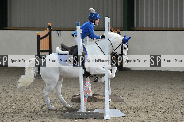 Class 3. 55cm. New year unaffiliated showjumping. Brook Farm Training Centre. Stapleford Abbotts. UK. 06/01/2018. ~ MANDATORY CREDIT Garry Bowden/Sport in Pictures - NO UNAUTHORISED USE - +44 7837 394578