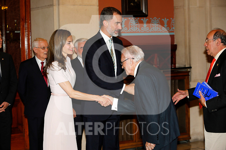 King Felipe VI of Spain and Queen Letizia of Spain attend the Presidency of the Plenary of the Spanish Royal Academy of Language 'RAE'. June 22 ,2017. (ALTERPHOTOS/Pool)