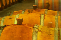 Barrels in the cellar being cleaned with sulphur - Chateau Baron Pichon Longueville, Pauillac, Medoc, Bordeaux, Grand Cru