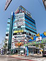 Fischrestaurant am  Hafen von Sokcho, Provinz Gangwon, Südkorea, Asien<br /> Restaurant, port of  Sokcho, province Gangwon, South Korea, Asia