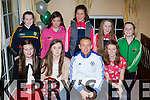 Barry John Keane presents the Listry/Milltown u12 girls their East Kerry Division 1 League medals in the Faha Court hotel on Saturday night front row l-r: Tallula Bell-Courtney, Ella Teahan, Niamh Broderick. Back row: Michelle O'Dowd, Aileen O'Leary, Katie Boyle, Maggie O'Dowd and Kitty O'Dowd