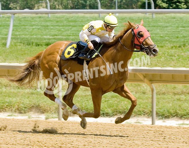 Thunder T winning at Delaware Park on 6/25/12