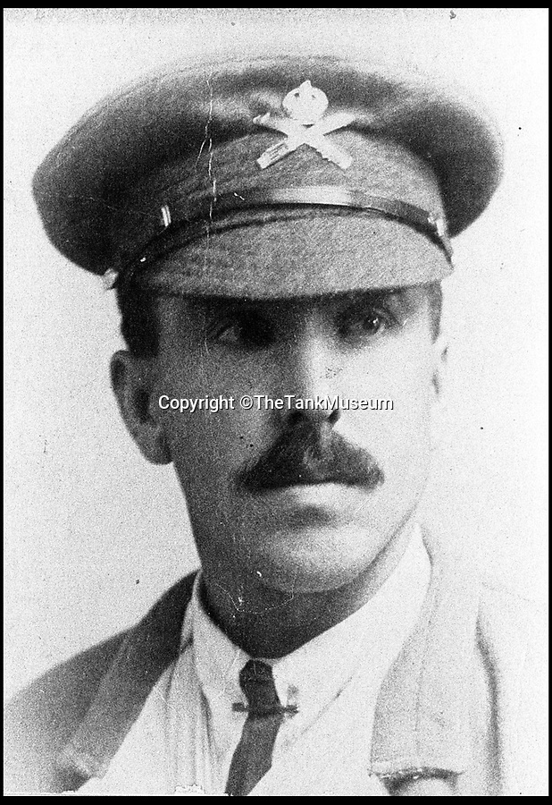BNPS.co.uk (01202 558833)<br /> Pic: TheTankMuseum/BNPS<br /> <br /> Gunner William Morrey of Fray Bentos<br /> <br /> One of the most astonishing acts of survival of the Great War, in which a tank crew stranded in no man's land for 3  days were attacked by both sides can be told 100 years later.<br /> <br /> For three days and two nights the nine British servicemen endured German machine gun fire, snipers and grenade and heavy artillery attacks after their tank got stuck on No Man's Land.<br /> <br /> If that wasn't bad enough, they also came under fire from their own side.<br /> <br /> The Mark IV tank, named Fray Bentos as its captain was a grocer with the licence to sell the famous tinned meat before the war, remained stranded in a bomb crater on the battlefield at Passchendaele afterwards.<br /> <br /> The incredible story can now be told after historians at the Tank Museum in Bovington, Dorset, uncovered one of the crew's written account of the action in its archives.