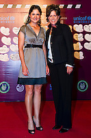 HAIKOU, CHINA - OCTOBER 29:  Lorena Ochoa (L) of Mexico and Rosie Jones of USA attend red carpet during day three of the Mission Hills Start Trophy tournament at Mission Hills Resort on October 29, 2010 in Haikou, China. Photo by Victor Fraile / studioEAST