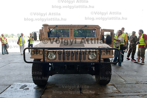 HMMWW, Humwee or Hummer is seen during the presentation of the coalition support for Hungary by the US military in Szolnok, Hungary on July 18, 2011. ATTILA VOLGYI