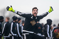 Wednesday  06 January 2016<br /> Pictured: Josh Vickers<br /> Re: Swansea City Training session at the Fairwood training ground, Swansea, Wales, UK