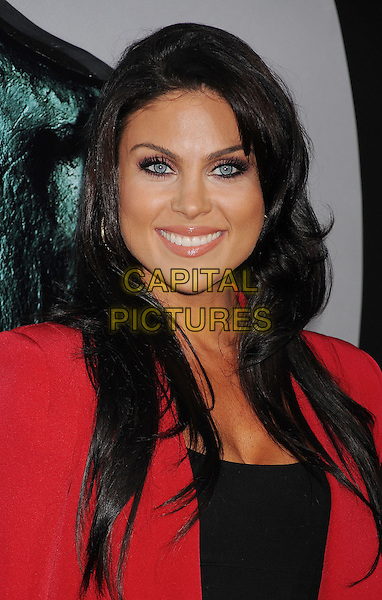 "Nadia Bjorlin.arriving at the Los Angeles Premiere of ""Final Destination 5"" at Grauman's Chinese Theatre in Hollywood, California, USA, August 10th, 2011..portrait headshot smiling  red jacket black .CAP/ROT/TM.©TM/Roth Stock/Capital Pictures"