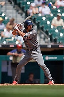 Lehigh Valley IronPigs Damek Tomscha (13) at bat during an International League game against the Buffalo Bisons on June 9, 2019 at Sahlen Field in Buffalo, New York.  Lehigh Valley defeated Buffalo 7-6 in 11 innings.  (Mike Janes/Four Seam Images)
