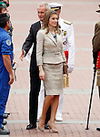 Princess Letizia greets the soldiers during a military parade marking the Armed Forces Day on June 2, 2012 in Valladolid.(ALTERPHOTOS/Acero)
