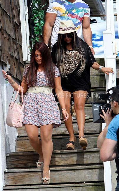 "WWW.ACEPIXS.COM . . . . .  ....June 24 2012, New Jersey....Deena Cortese and Nicole ""Snooki"" Polizzi films an episode of 'Jersey Shore' on June 24 2012 in Seaside Heights, NJ....Please byline: NANCY RIVERA- ACEPIXS.COM.... *** ***..Ace Pictures, Inc:  ..Tel: 646 769 0430..e-mail: info@acepixs.com..web: http://www.acepixs.com"