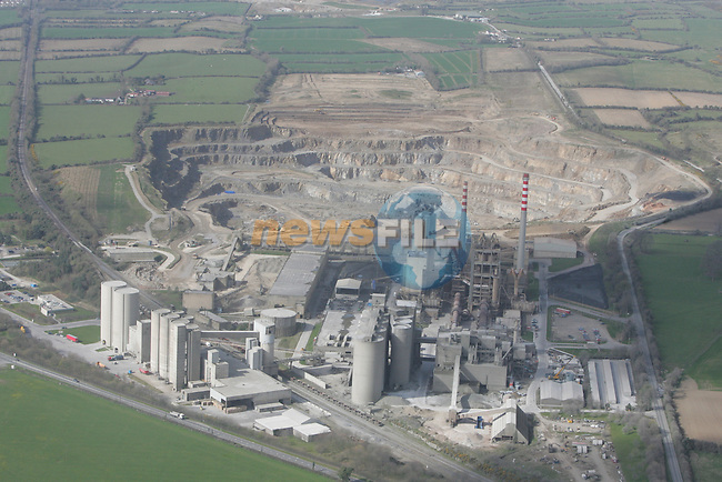 Aerial view of Platin Cement Factory on the Duleek Rd. 12/04/05...Photo NEWSFILE/Fran Caffrey.(Photo credit should read Fran Caffrey/NEWSFILE)....This Picture has been sent you under the condtions enclosed by:.Newsfile Ltd..The Studio,.Millmount Abbey,.Drogheda,.Co Meath..Ireland..Tel: +353(0)41-9871240.Fax: +353(0)41-9871260.GSM: +353(0)86-2500958.email: pictures@newsfile.ie.www.newsfile.ie.FTP: 193.120.102.198...This picture is from Fran Caffrey@newsfile.ie