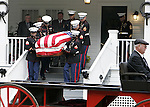 The U.S. Marine honor guard carry the body of fallen comrade US Marine Lance Cpl. Daniel B. Chaires from his home in Chaires, Florida to a horse drawn carriage for the quarter mile walk to the Chaires United Methodist Church for the funeral service Nov. 2, 2006.   Chaires was killed in action on Oct. 25, 2006 while serving with the U.S. Marine Corps in Iraq.