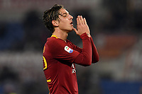 Nicolo Zaniolo of AS Roma reacts during the Serie A 2018/2019 football match between AS Roma and FC Internazionale at stadio Olimpico, Roma, December, 2, 2018 <br />  Foto Andrea Staccioli / Insidefoto
