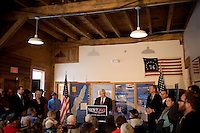 Former Speaker of the House Newt Gingrich speaks during a town hall meeting in Lancaster, New Hampshire.  Gingrich is seeking the 2012 Republican nomination for president.