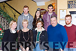 The Maher family from Kilcummin enjoying New Years eve in Lord Kenmares restaurant Killarney on Saturday front row l-r: Noreen, Maria, kate and Willie Maher. back row: Tomas Maher, Anneta Augustynkoba, and Donal Maher