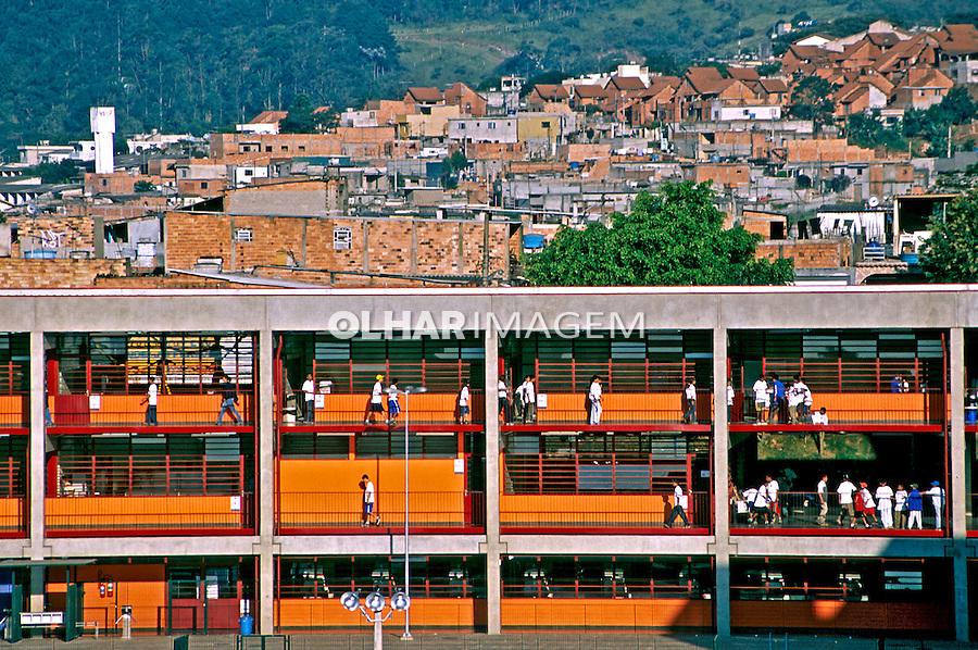 Escola municipal, CEU em São Mateus, São Paulo. 2004. Foto de Juca Martins.