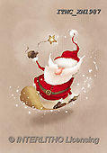 Marcello, CHRISTMAS SANTA, SNOWMAN, WEIHNACHTSMÄNNER, SCHNEEMÄNNER, PAPÁ NOEL, MUÑECOS DE NIEVE, paintings+++++,ITMCXM1987,#X#