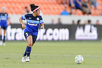 Houston, TX - Sunday June 19, 2016: Desiree Scott during a regular season National Women's Soccer League (NWSL) match between the Houston Dash and FC Kansas City at BBVA Compass Stadium.