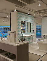 London Vera install in Turquoise, Feldspar, Absolute White, Moonstone, Amazonite is part of the Ann Sacks Beau Monde collection sold exclusively at www.annsacks.com