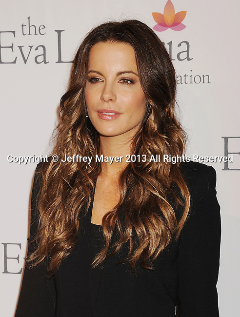 HOLLYWOOD, CA- SEPTEMBER 28: Actress Kate Beckinsale arrives at the Eva Longoria Foundation Dinner at Beso restaurant on September 28, 2013 in Hollywood, California.