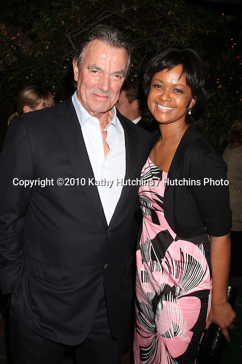 Eric Braeden & Tonya Lee Williams.at the Eric Braeden's 30th Anniversary on The Young & The Restless Cocktail Reception .Pane e Vino Resturant.Los Angeles, CA.February 3, 2010.©2010 Kathy Hutchins / Hutchins Photo..Publicist & Braeden Approved....