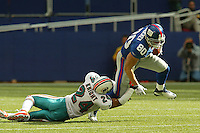 Jeremy Shockey In an NFL game played at Giants Stadium between the Miami Dolphins and the New York Giants