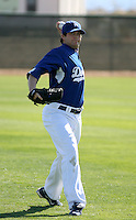 Brent Leach - Los Angeles Dodgers - 2009 spring training.Photo by:  Bill Mitchell/Four Seam Images