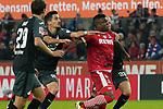 08.11.2019, RheinEnergieStadion, Koeln, GER, 1. FBL, 1.FC Koeln vs. TSG 1899 Hoffenheim,<br />  <br /> DFL regulations prohibit any use of photographs as image sequences and/or quasi-video<br /> <br /> im Bild / picture shows: <br /> Jhon Córdoba (FC Koeln #15),   wird hier von Benjamin Hübner / Huebner (Hoffenheim #21),   gehalten <br /> <br /> Foto © nordphoto / Meuter