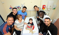 2015 12 22 Swansea City FC players visit children at Morriston Hospital, Wales, UK