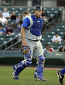 May 10, 2004:  Pete LaForest of the Durham Bulls, International League (AAA) affiliate of the Tampa Bay Devil Rays, during a game at Frontier Field in Rochester, NY.  Photo by:  Mike Janes/Four Seam Images