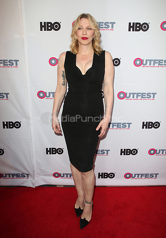 LOS ANGELES, CA - JULY 16: Courtney Love at the 2017 Outfest Los Angeles Film Festival Closing Night Gala Of Freak Show at The Theater at ACE Hotel in Los Angeles, California on July 16, 2017. Credit: Faye Sadou/MediaPunch