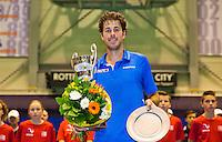 December 21, 2014, Rotterdam, Topsport Centrum, Lotto NK Tennis, Men's Final, Robin Haase  Wins the NK<br /> Photo: Tennisimages/Henk Koster