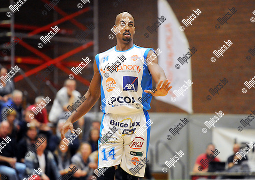2013-10-01 / Basketbal / seizoen 2013-2014 / Kangoeroes Willebroek / Maurice Pearson<br /><br />Foto: Mpics.be