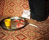 KOS / Kosovo /Mitrovica / 01.07.2009 / Medikamente im Hause eines alten Mannes in einer der wenigen wiedererrichteten Wohnungen in der Roma Mahalla