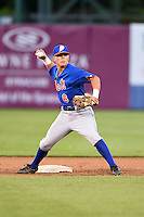 Hunter Stovall (6) of Pelham High School in Pelham, Alabama playing for the New York Mets scout team during the East Coast Pro Showcase on July 31, 2014 at NBT Bank Stadium in Syracuse, New York.  (Mike Janes/Four Seam Images)