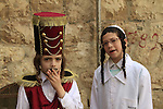 Israel, Jerusalem, Purim in the Ultra Orthodox Mea Shearim neighborhood