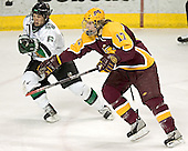Zach Jones, Blake Wheeler - The University of Minnesota Golden Gophers defeated the University of North Dakota Fighting Sioux 4-3 on Saturday, December 10, 2005 completing a weekend sweep of the Fighting Sioux at the Ralph Engelstad Arena in Grand Forks, North Dakota.