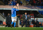 St Johnstone v Ross County....29.11.14   Scottish Cup 4th Round<br /> James McFadden applauds the fans as he is subbed<br /> Picture by Graeme Hart.<br /> Copyright Perthshire Picture Agency<br /> Tel: 01738 623350  Mobile: 07990 594431