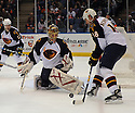 Dec 23, 2008; Uniondale, NY, USA; Atlanta Thrashers goaltender Johan Hedberg (1) during game against the New York Islanders at the Nassau Coliseum.Thrashers won 4-2. Mandatory Credit: Tomasso DeRosa/SportPics