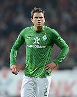 FUSSBALL   1. BUNDESLIGA  SAISON 2011/2012  30. SPIELTAG 10.04.2012 SV Werder Bremen - Borussia Moenchengladbach  Sebastian Boenisch (SV Werder Bremen) enttaeuscht nach seiner Roten Karte