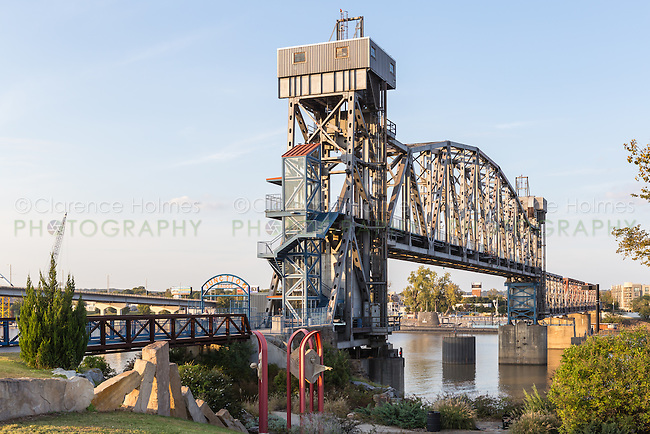 The Junction Bridge on the Arkansas River Trail in Little Rock, Arkansas.