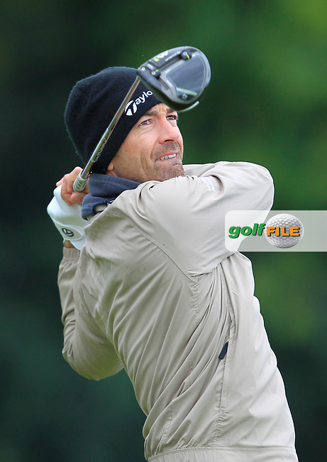 Eduardo De La Riva (ESP) on the 5th tee during Round 1 of the KLM Open 2017 at the Dutch in the Netherlands. 14/09/2017<br /> Picture: Golffile | Thos Caffrey<br /> <br /> <br /> All photo usage must carry mandatory copyright credit     (&copy; Golffile | Thos Caffrey)