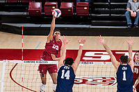 Stanford, CA - February 21, 2018: Stanford Men's Volleyball loses to BYU 3-1 at Maples Pavilion.