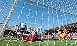 21.04.2018 Partick Thistle v Hamilton:  Ryan Edwards shoots through a sea of players to score win the game for Partick Thistle