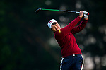 Pei-Yun Chien of Chinese Taipei plays a shot during the Hyundai China Ladies Open 2014 on December 13 2014 at Mission Hills Shenzhen, in Shenzhen, China. Photo by Xaume Olleros / Power Sport Images