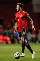 18th November 2019; Wanda Metropolitano Stadium, Madrid, Spain; European Championships 2020 Qualifier, Spain versus Romania;  Saul Niguez (esp)  controls the ball  - Editorial Use