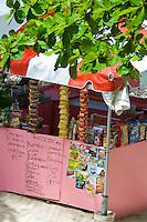 Food vendor at Cane Garden Bay<br /> Tortola<br /> Virgin Gorda