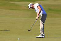 Maximilian Keiffer (GER) on the 7th green during Round 1 of the 2015 Alfred Dunhill Links Championship at Kingsbarns in Scotland on 1/10/15.<br /> Picture: Thos Caffrey | Golffile