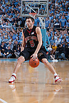 03 February 2009: Maryland Terrapins guard Eric Hayes (5) during a 108-91 loss to the North Carolina Tar Heels at the Dean Smith Center in Chapel Hill, NC.